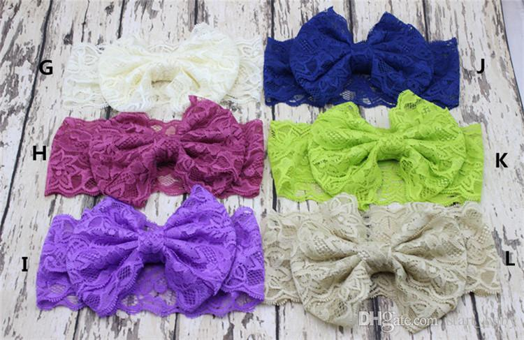 Hair bowknot lace Headbands Childrens Accessories Head Bands Infants big bows Headband For Girls Baby Headbands Baby Hair Accessories B11