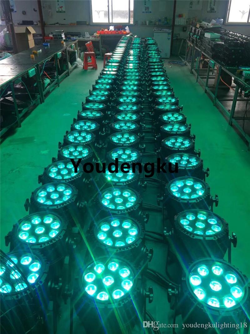 8 parça sahne dmx led aydınlatma açık su geçirmez 9X15 W 5in1 RGBWA par 64 led ışık