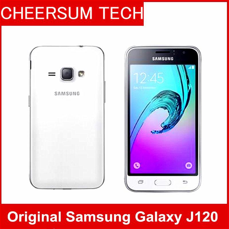 rinnovato J120 Smartphone Samsung Galaxy J1 (2016) SM-J120 8 GB ROM `1 GB  di RAM LTE telefoni cellulari Android originali 5MP 4g 5pcs DHL libero