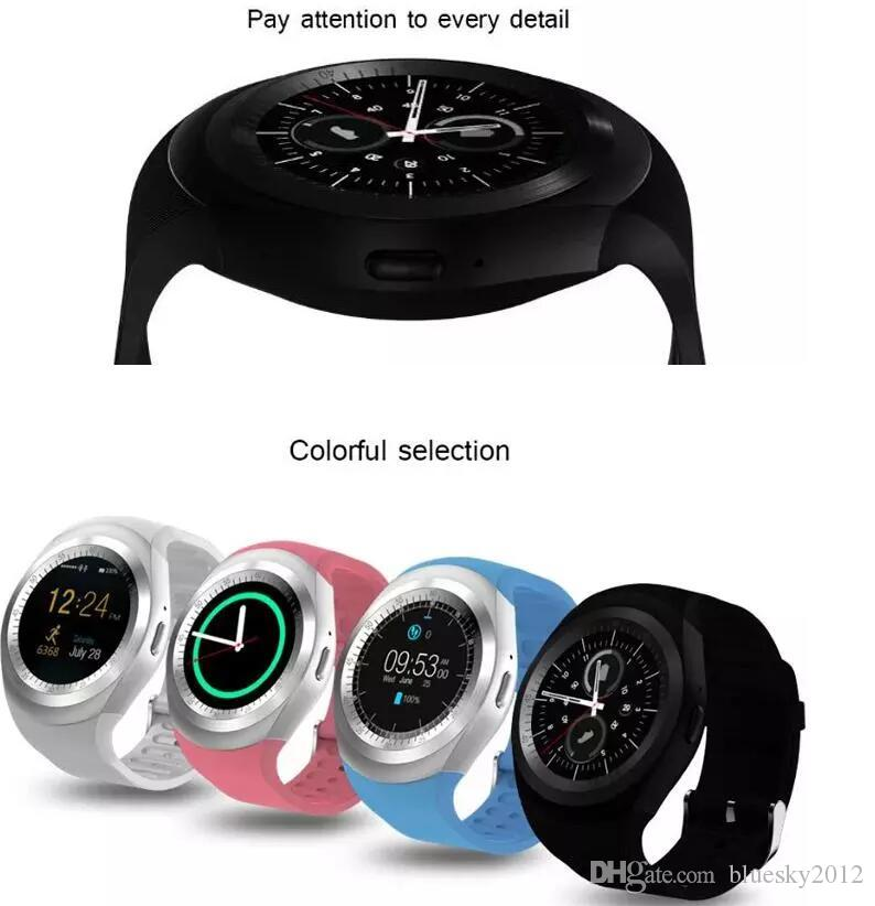 Y1 Smart Watch Round Sharp Support Nano SIM with Whatsapp Facebook Business Smartwatch Push Message For IOS Android Phone