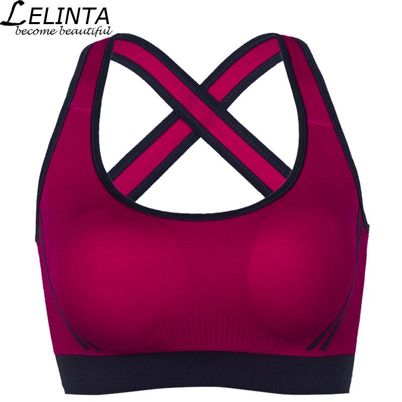 8d9fd6599d Compre LELINTA es Sujetador Deportivo Para Mujeres Gimnasio Running Yoga Sujetador  Deportivo Chica Ropa Interior Nylon Spandex Negro Blanco Rojo Amarillo ...
