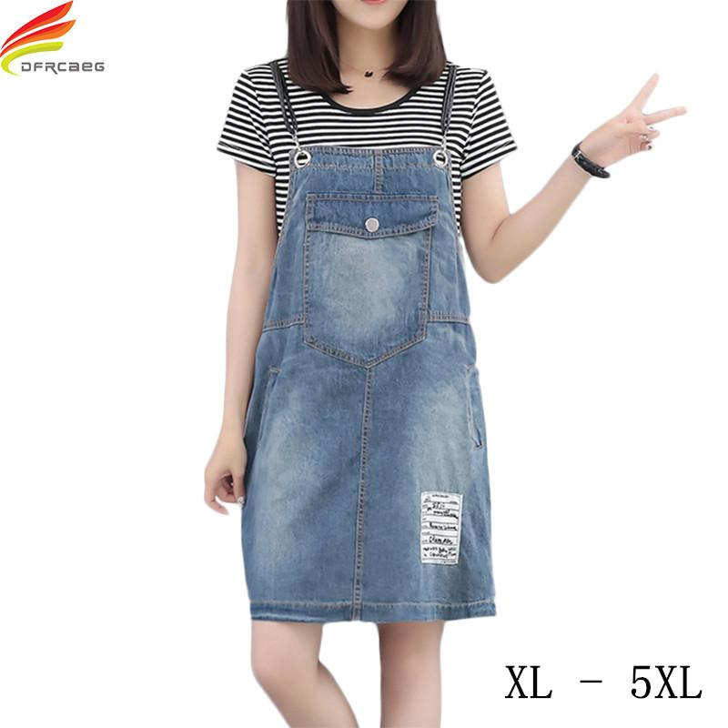 2019 Plus Size Denim Rompers Womens Jumpsuit Summer 2018 Hole Washed