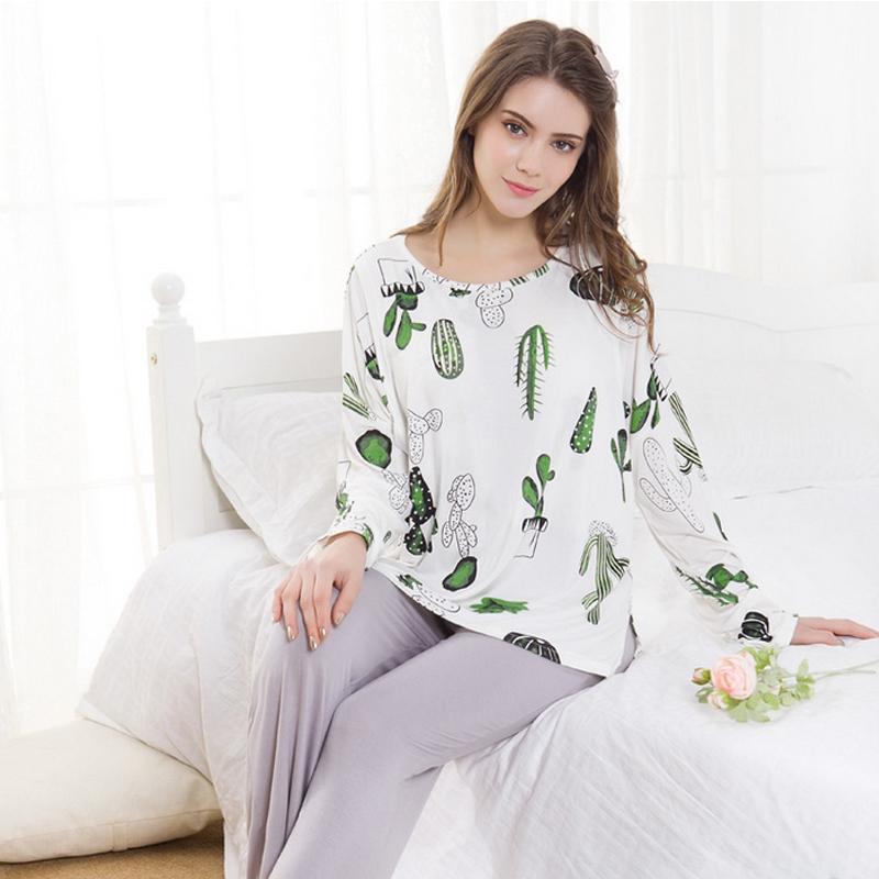 eb8e4f45913a Acquista Maternità Pigiama Vestiti Delle Donne 2018 Pigiama Incinta Moda  Modale Infermieristica Camicia Da Notte Di Allattamento Vestiti Vestito  Homewear ...