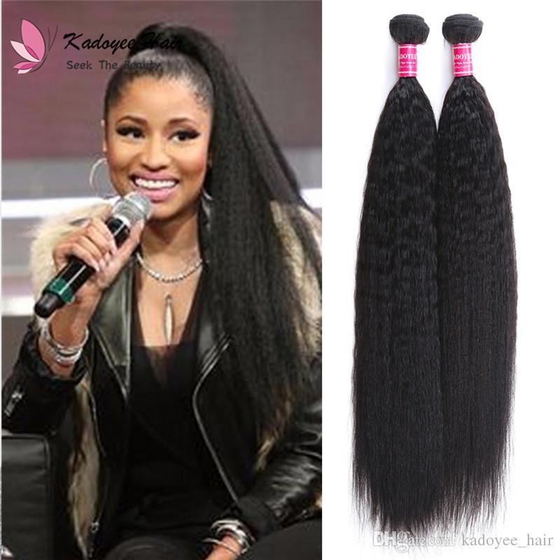 Wholesale Price Unprocessed Human Hair Light Yaki Weft Cheap Remy