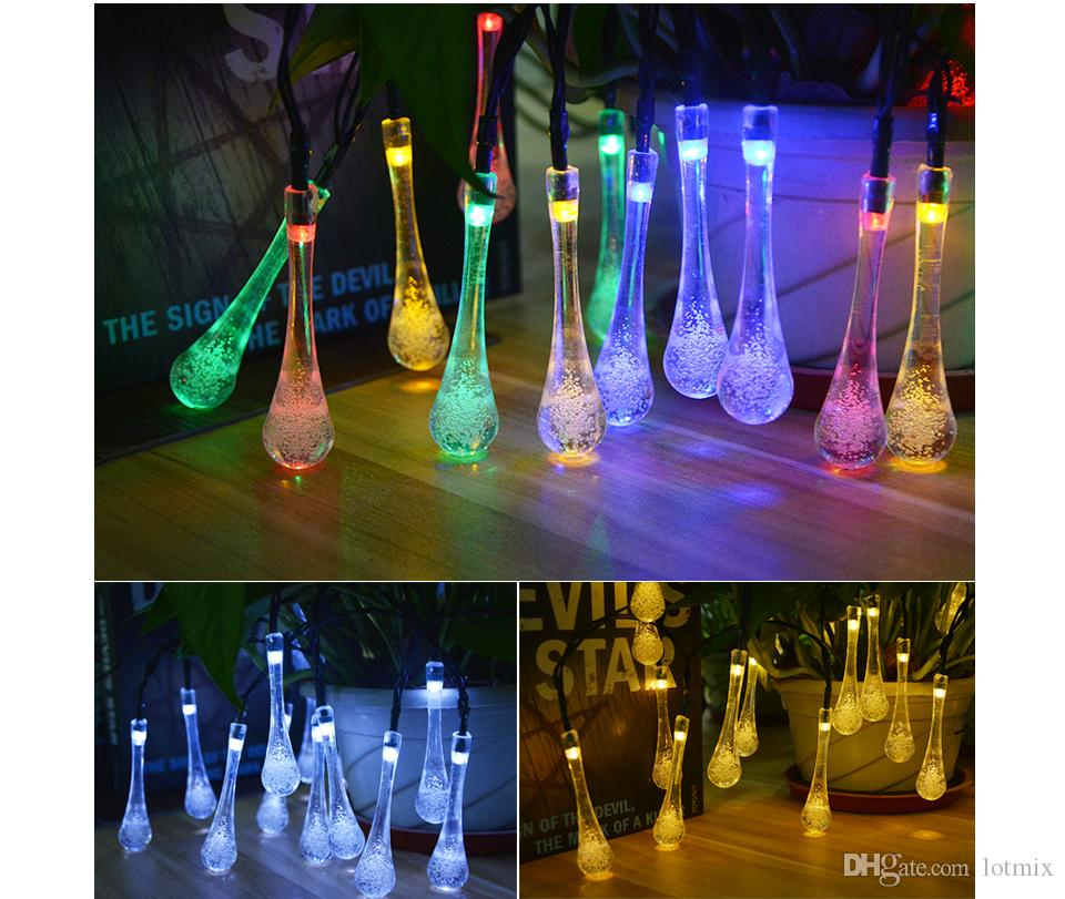 4 patterns 6M 7M 12M Solar Charge Holiday light LED String Fairy light Garden Valentine's Day Christmas Party Wedding Decor lamp