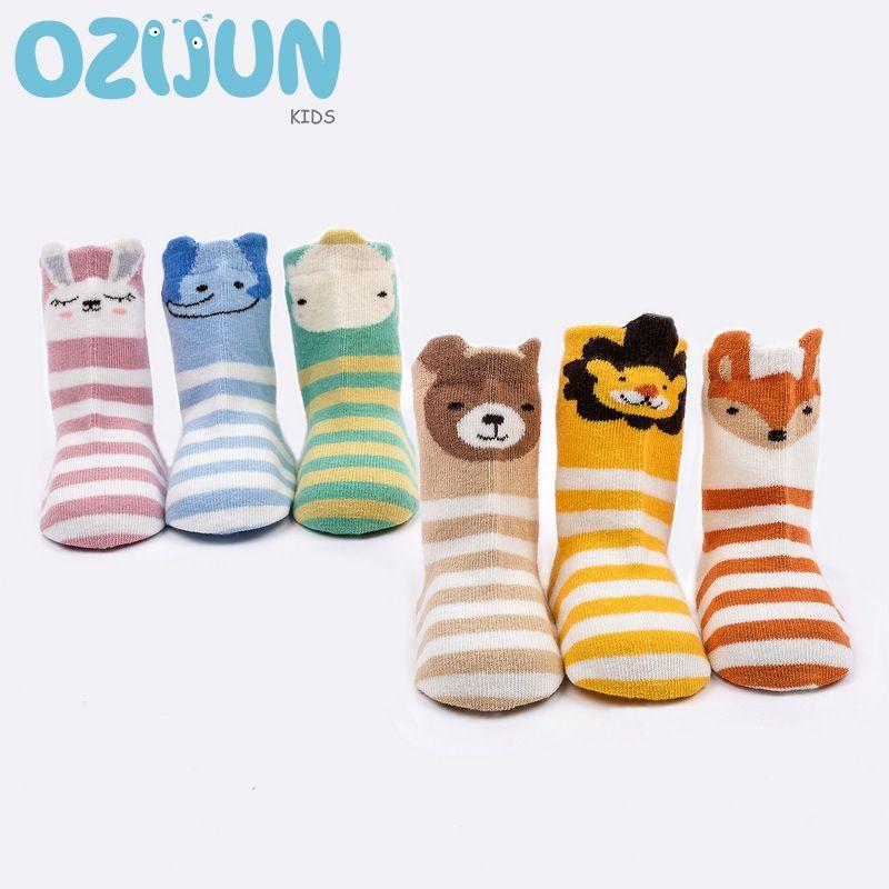 Baby Socks 1 3years Cute 3d Cartoon Anti Slip Socks Animal Cute