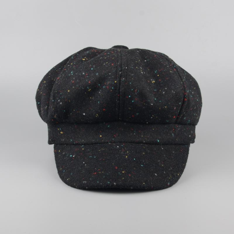 Acquista 2018 Blank Nero Cappelli Newsboy Di Alta Qualità Le Donne  Primavera Autunno Inverno Cappelli Di Feltro Cap Inverno Ladies Black Hat  Beret Cap A ... bf2817c6b99d