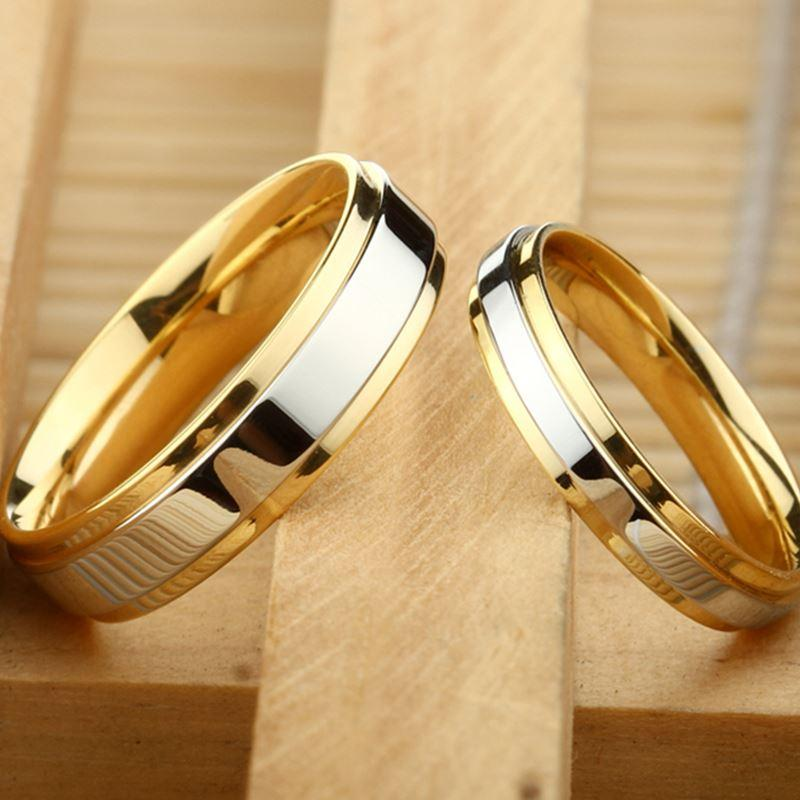 f6834107a3 2019 Couple Ring Gold Color Jewelry For Women Man Titanium Steel Lover Ring  Stainless Steel Wedding Bands From Handofart, $26.34 | DHgate.Com
