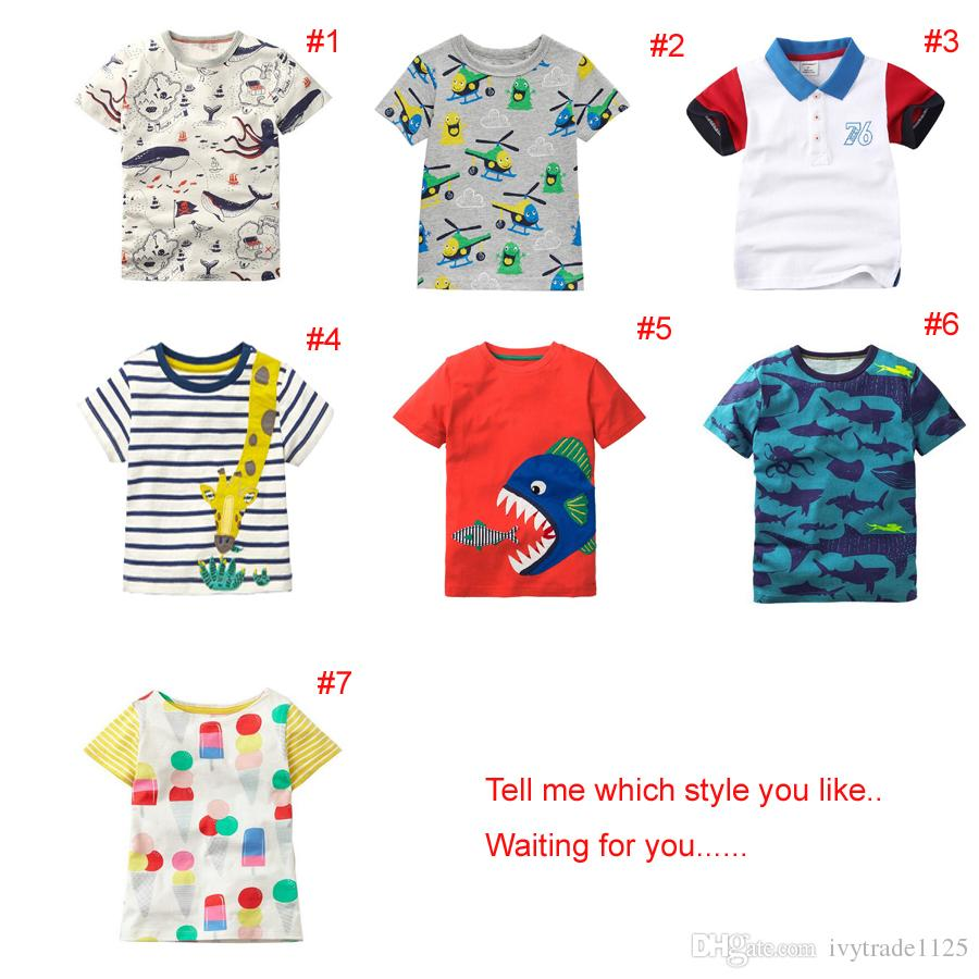 11765bcb5 2019 2018 INS NEW ARRIVAL Boys Girls Kids Clothes Short Sleeve ...