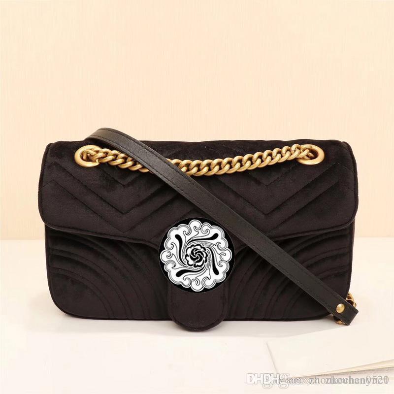 f930756769 2018 Famous Brands Luxury Handbags Women Handbag H Fashion Messenger Bag  Brand Style Velvet Leather Bags Female Shoulder Bag Weekend Bags Luxury  Bags From ...