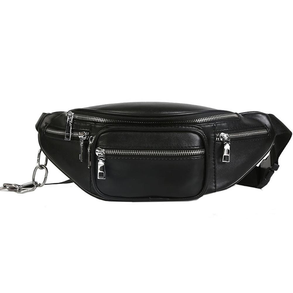 1f47c65813f6 Emarald Pu Leather Chain Fanny Pack Vintage Waist Bag For Men Multifunction  Zipper Waist Bag Female Money Belt Nice Handbags Small Hiking Backpack From  ...