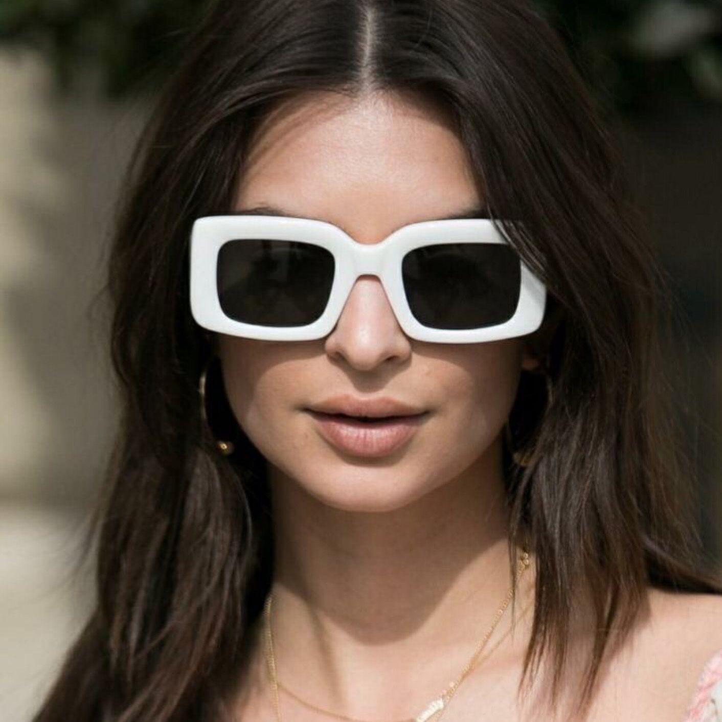 2018 Vintage Oversized Square Sunglasses Women Men Retro Brand