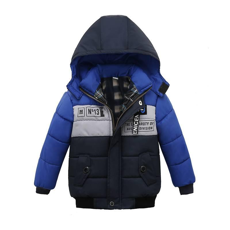 2ceb94c78 Boy Blue Winter Coats And Children Zipper Jackets Kid Thick Winter ...