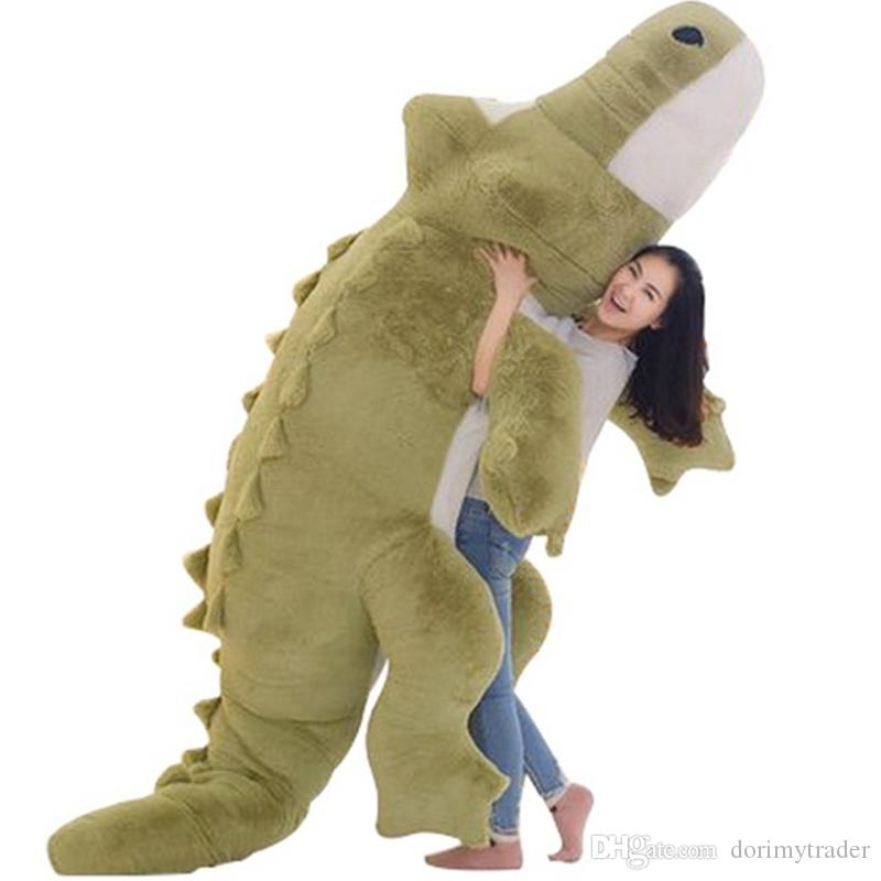 Dorimytrader Jumbo Crocodile Toy Plush Soft Stuffed Alligator Sofa Tatami Great Christmas Gift Decoration 118inch 300cm DY61038