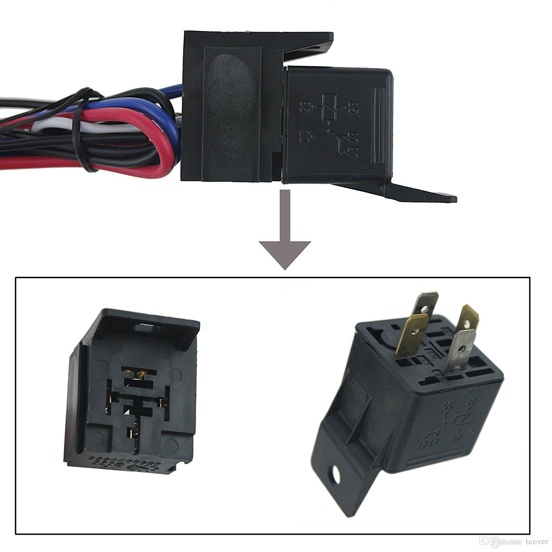 ZOOKOTO DC 12V Zündschalter Panel 5 in 1 Auto Motor Start Taster LED Toggle für Rennwagen