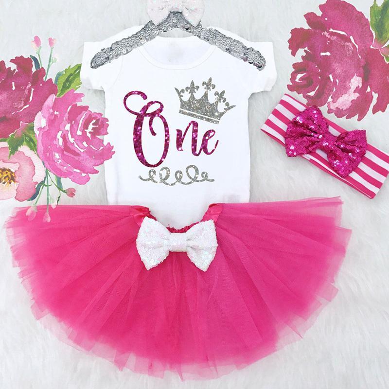 95fe84cf8 Ropa para bebés recién nacidos Primer conjunto de trajes de 1er cumpleaños  Ropa infantil Trajes de bahía Mamelucos para niñas Niños Tutu Trajes ...
