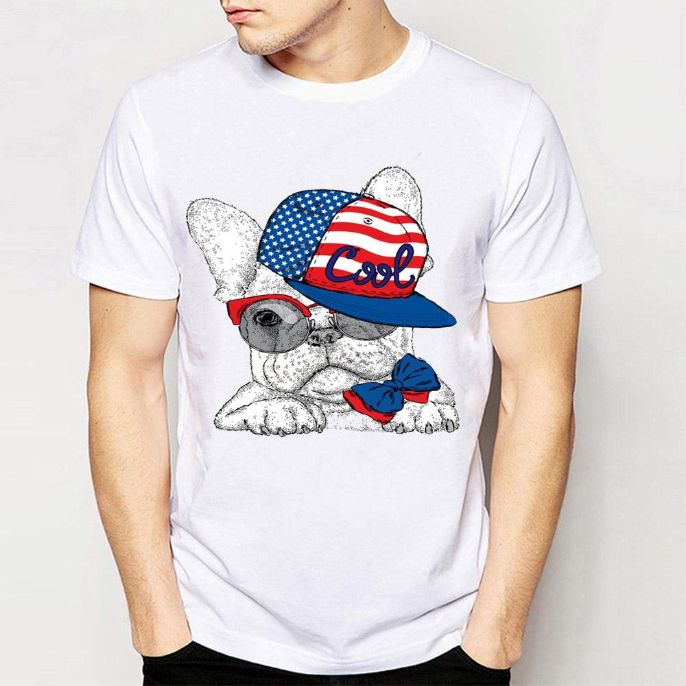 5959b354b388 Cool American Design With French Bulldog Perfect Gift T Shirt Fashion Men  Short Sleeve Casual Man Tee Hipster Cool Male Tops Buy Funny T Shirts Online  Tee ...
