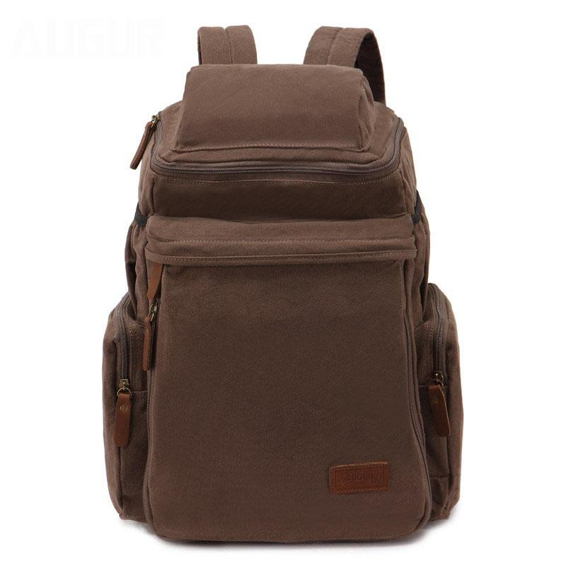 2c74b0e56849 Augur Large Capacity Canvas Laptop Backpack Men 19Inch Notebook Portable  Student Rucksack Women Casual Army Green Shoulders Bag Hiking Backpack  Swiss Gear ...
