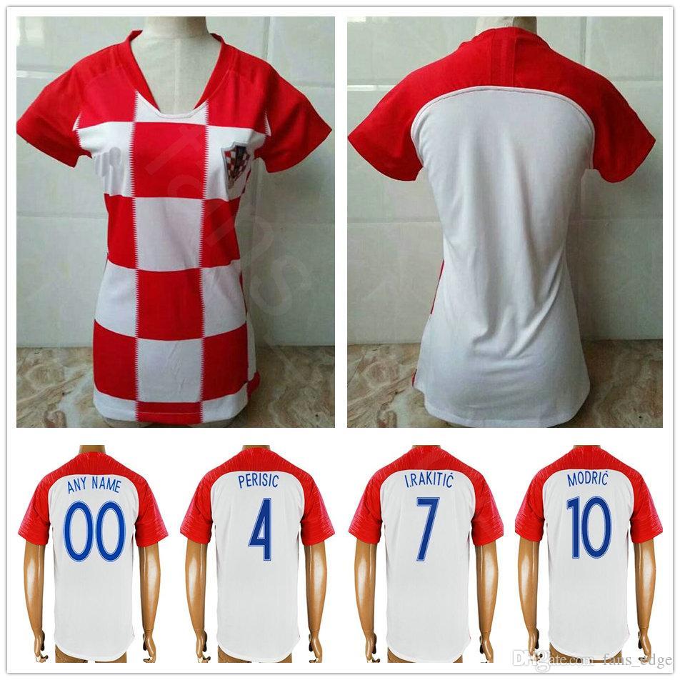 b4351ea69 2019 2018 World Cup Women Croatiaes Soccer Jersey 10 MODRIC PERISIC RAKITIC  MANDZUKIC KOVACIC Woman Men Kids Youth Custom Hrvatska Football Shirt From  ...