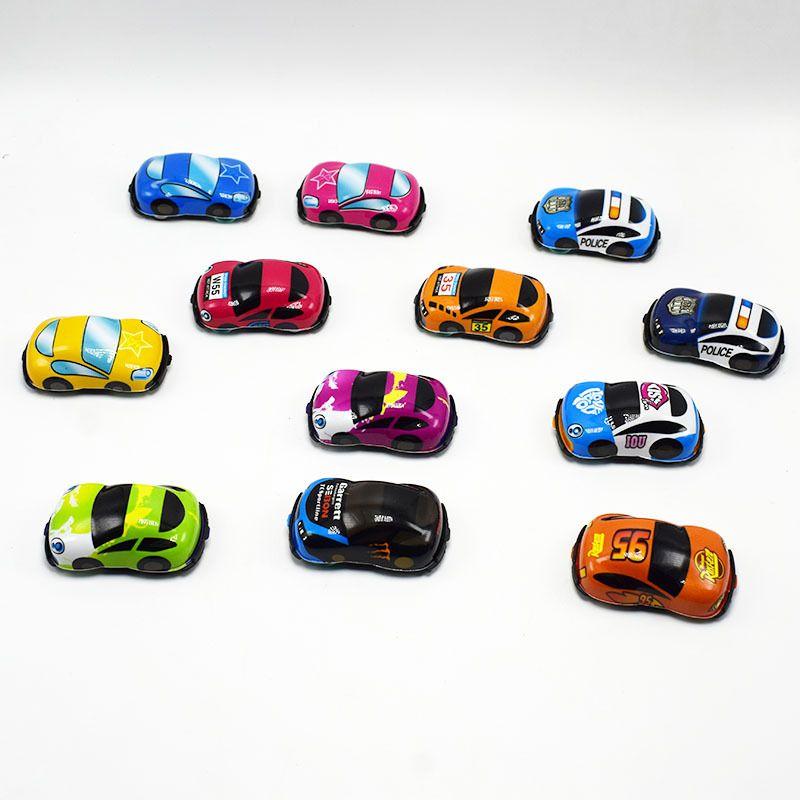 Kinder Autos Mini Geschenke Kapsel Spielzeug Kinder Cartoon Modell PVC Softshell zurückziehen Auto Gashapon Spielzeug zurückziehen Spielzeug
