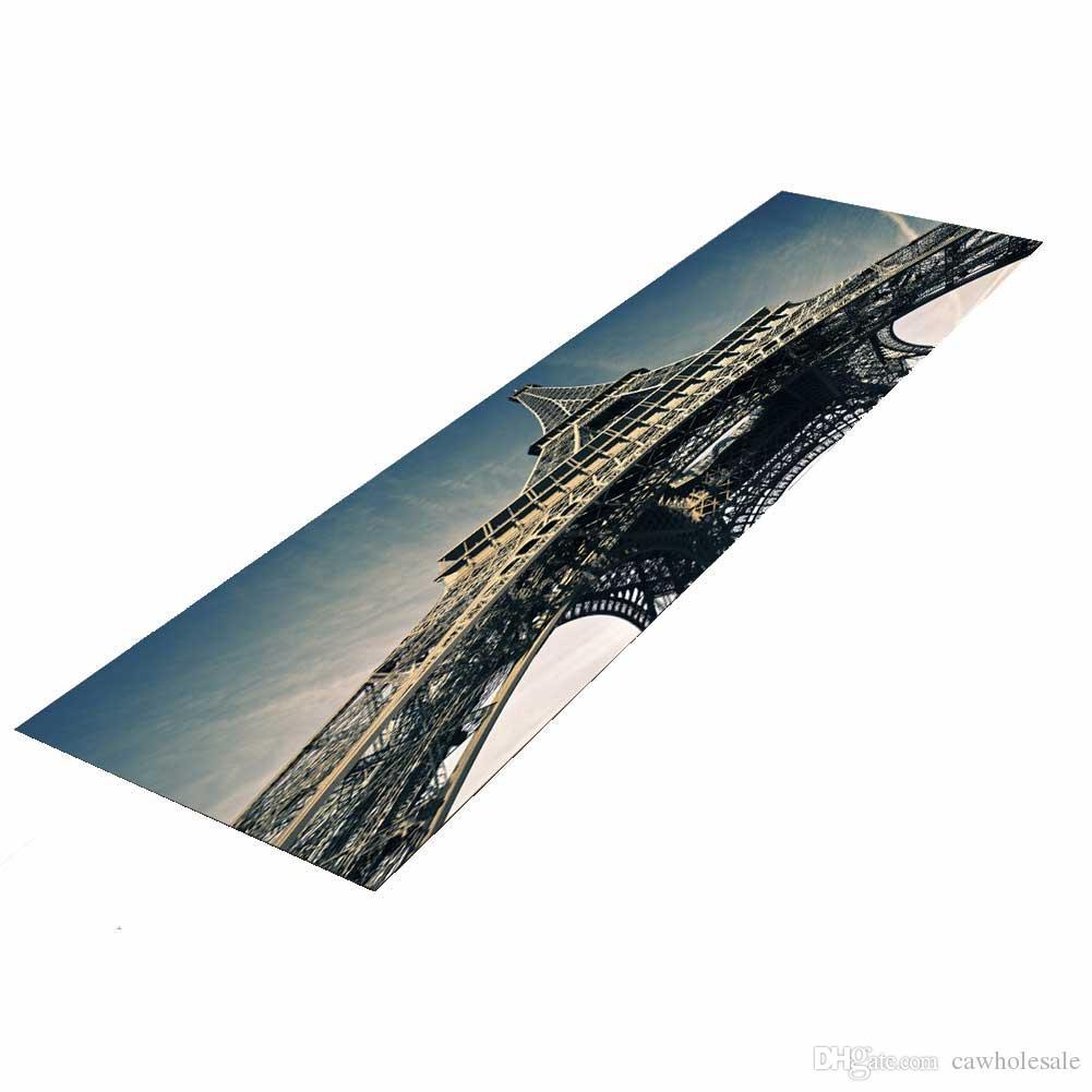 8 Styles HD Beautiful Scenery Landscape Carpets Anti-Slip Floor Mat indoor  Long floor mats for kitchen sofa