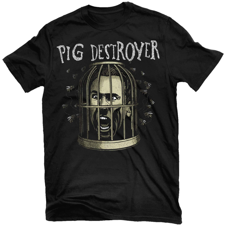 d2d77371fc606 Authentic PIG DESTROYER Cage Head T-Shirt S-2XL NEW 2018 Fashion T ...