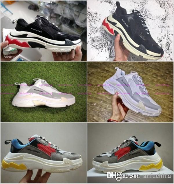 Nuevo S Zapato Zapatillas Hombre Velocidad Tripe Entrenamiento De 17fw Vintage Doble Con Caja Mujer Deportivas 2017 Moda Dad reWBodxC