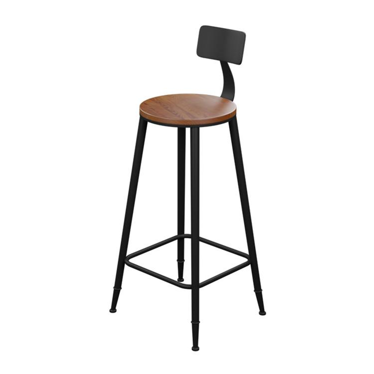 Brief Fashion 75cm High Feet Starbucks Style Cafe /Bar Chair Iron Art Chair  With Wood Seat High Feet Chair Cafe Chair Bar Chair Online With $31.7/Piece  On ...
