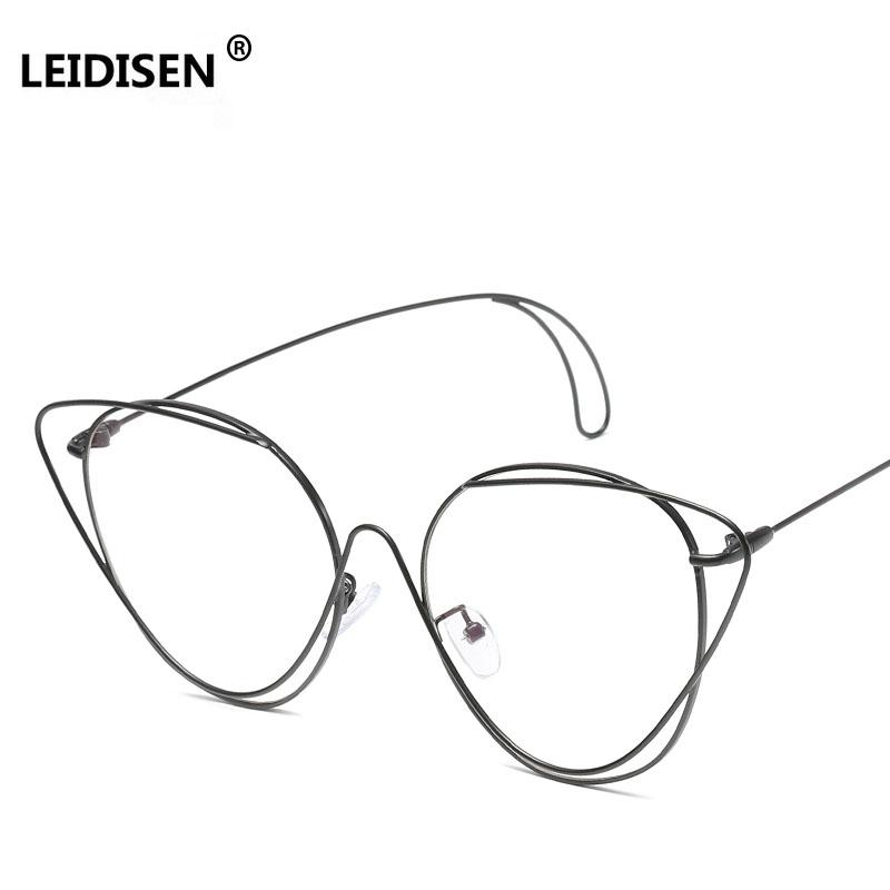 2aedc89d2ff 2019 LEIDISEN Hollow Out Double Rims Vintage Mens Eyeglasses Frame Women  Brand High Quality Metal Optical Glasses Computer Work UV From Zaonoodle
