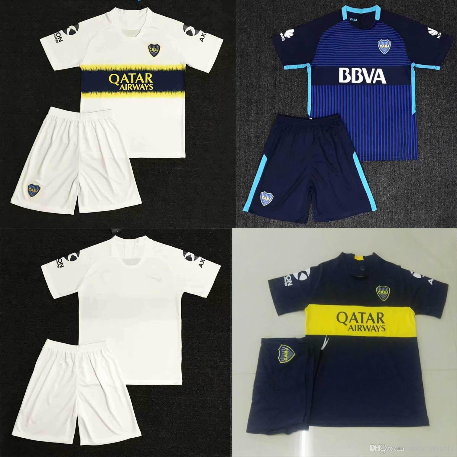 c5cef0f7d 2019 18 19 Boca Juniors Soccer Jersey Shorts 2018 19 GAGO OSVALDO CARLITOS  PEREZ P Soccer Kits Boca Home Away Football Sets Mens Sports Uniforms From  ...