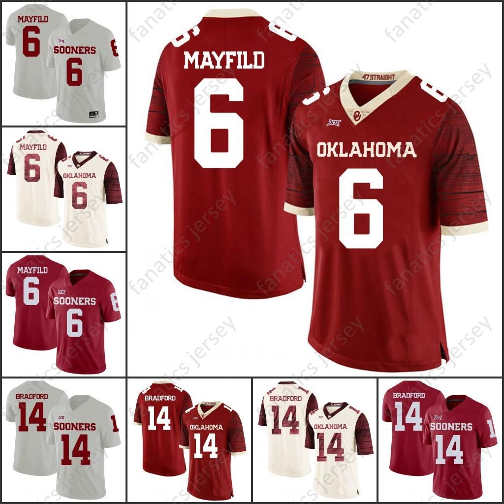 2019 Oklahoma Sooners College Football 2018 NCAA Kyler Murray Baker Mayfield  Sam Bradford Adrian Peterson Samaje Perine Brian Bosworth Jersey From ... 1b3707170