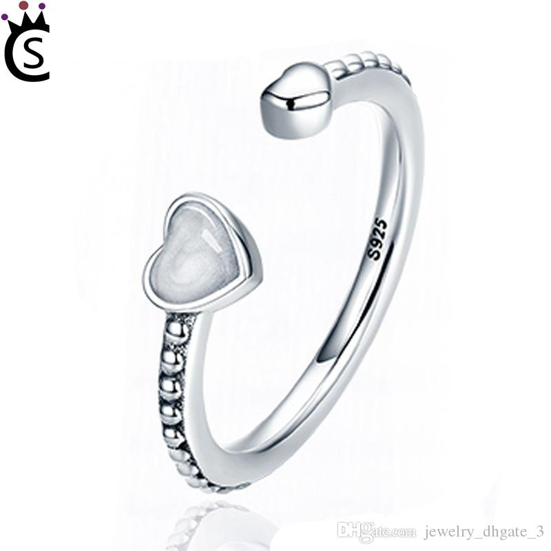 584217e61 Authentic 925 Sterling Silver Ring Abstract Elegance With Zircon ...