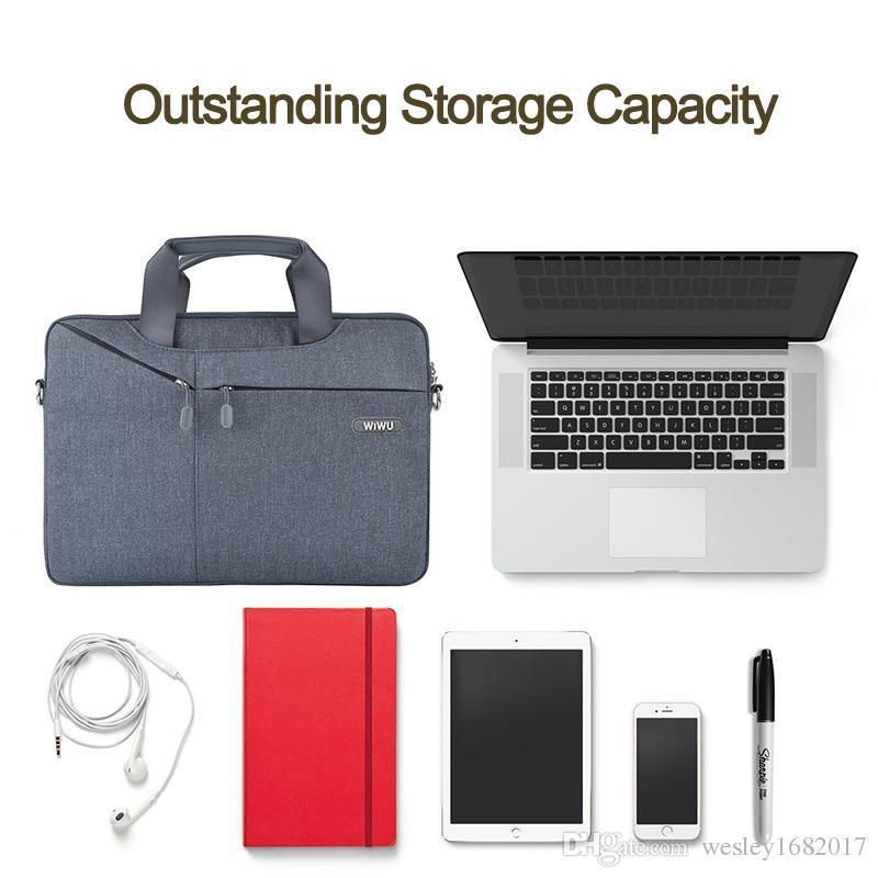 "WIWU 13.3 Inch Laptop Bag 15.4""Laptop Sleeve Case Computer Waterproof Shoulder Bag Gent Brief Case for Macbook Pro/Air 12"""