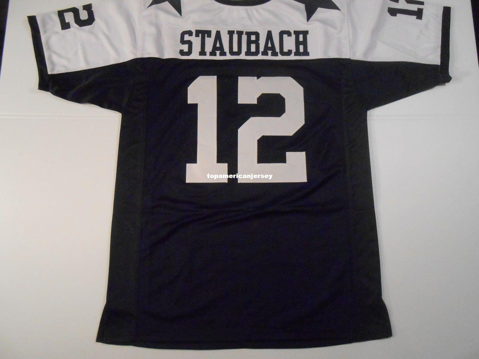buy popular 5385b 77a35 Cheap Retro custom Sewn Stitched #12 Roger Staubach MITCHELL & NESS Jersey  Top S-5XL,6XL Men's Football Jerseys Rugby