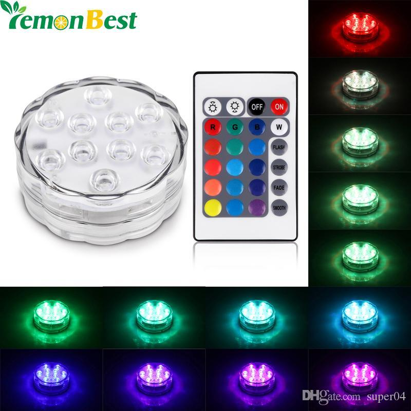 RGB 10 ha condotto la luce subacquea IP68 impermeabile Underwater Swimming Pool Swimming Party Swimming Pool Lighting
