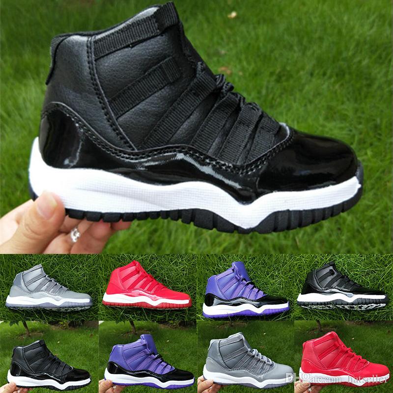 f9cb2ef9e5b5c9 Good Quality Kids 11 Basketball Shoes Black Red Grey Blue White XI ...