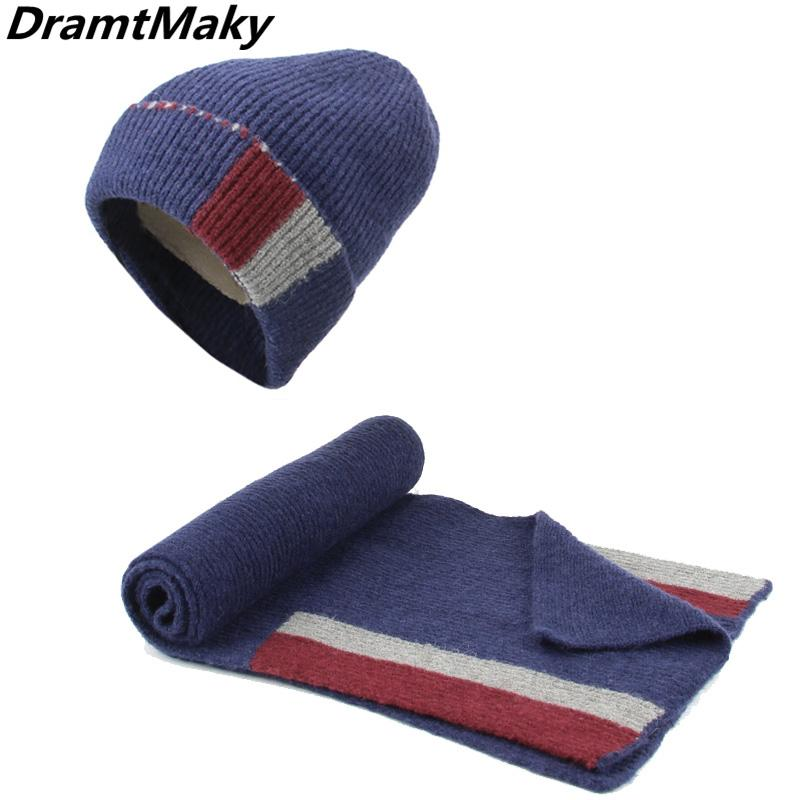 d90650285cd Fashion Women s Winter Knitted Hat Scarf Caps Neck Warmer Winter ...