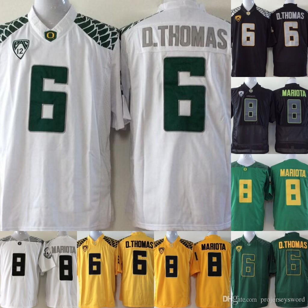 29607403c 2019 Mens Oregon Ducks College Jersey 6 De Anthony D.Thomas 8 Marcus Mariota  College Football Jerseys Green Yellow Black From Projerseysword