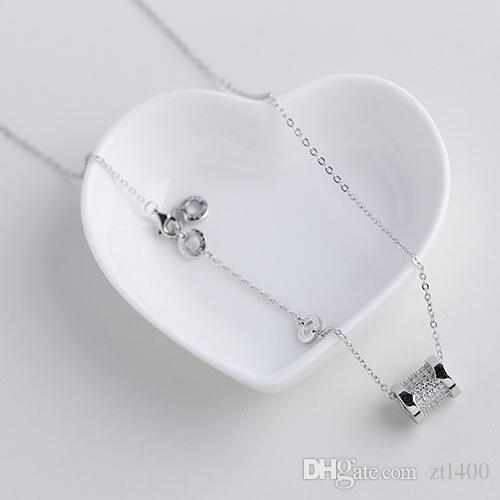 9f44d2f6408e Compre S925 Collar De Fiesta De Diamantes De Plata Esterlina Joyería ...