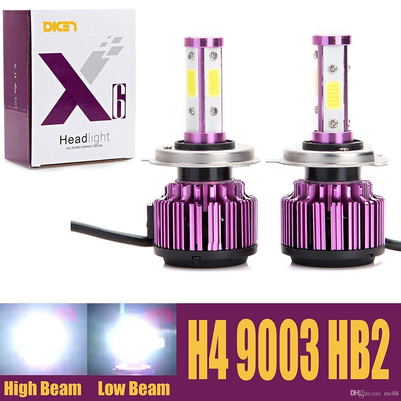 Bombillas LED para coche más nuevas 8000LM 50W Blanco frío 6000K Reemplazar luz baja / haz alto / Luz antiniebla 360 Degree 4 pastillas COB laterales Super Bright