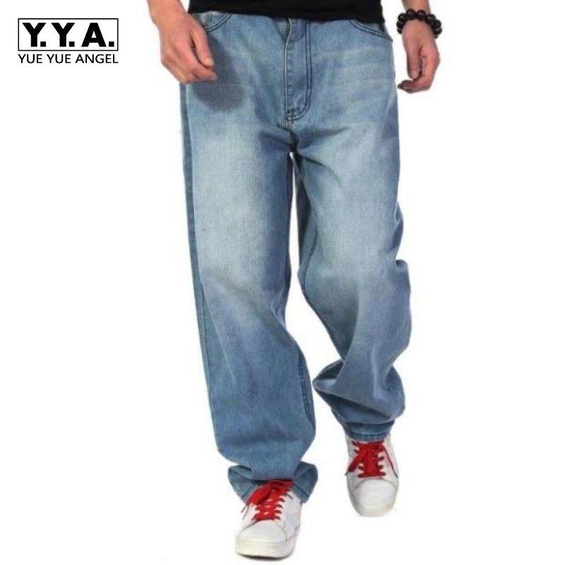 Hop Taille Hip Grande Baggy Bleu Wash Homme Loose Acheter Jeans wRxaqAn