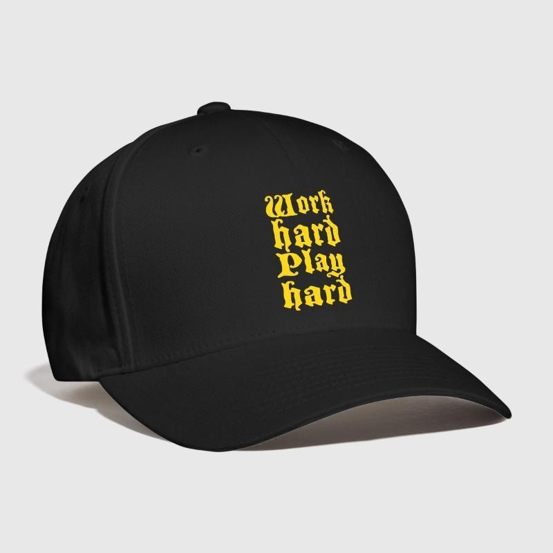 2b4448790b9 Work Hard Play Hard Old English Embroidery Customized Handmade Father Funky  Bossing Inspiring Fonts Manager Cool Curved Dad Hat Custom Trucker Hats  Compton ...