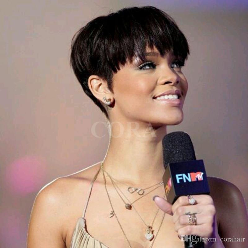 Großhandel Hort Süße Frisuren Chic Pixie Cut Rihanna Kurze