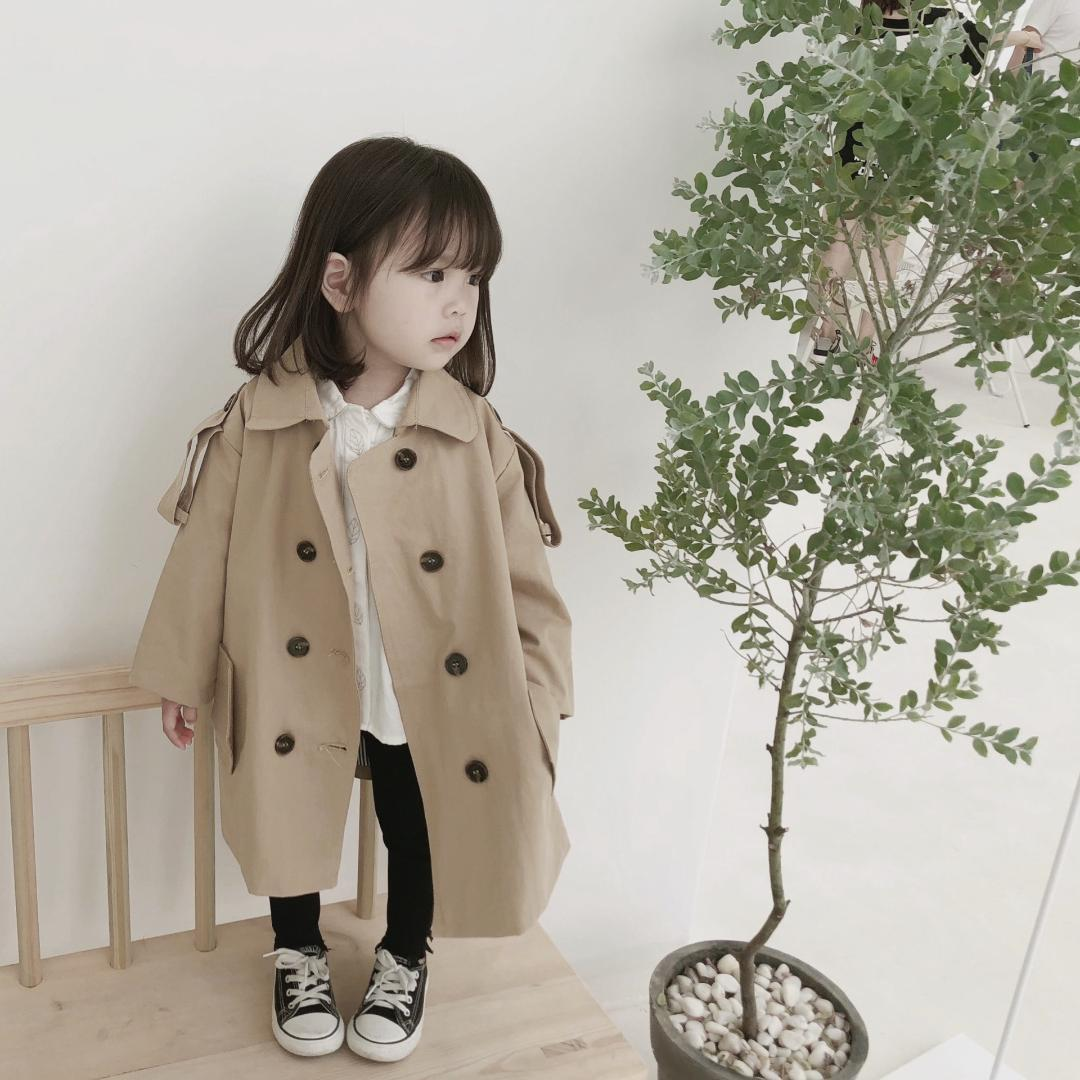 2affd912712c 2018 Autumn Korean Children Trench Coat Boys And Girls Fashion Long ...