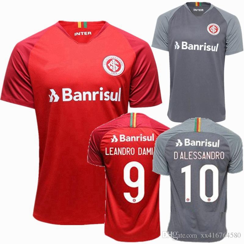 6d65b3c9581 Online Cheap 2018 2019 Internacional Soccer Jersey 18 19 Damiao Silva  D Alessandro Home Away Red Gray Football Shirts Jerseys By Xx416764580