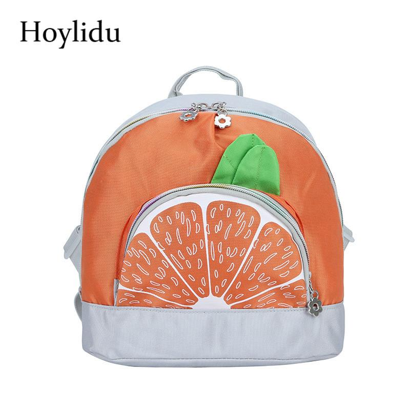 02fba6ac83 Canvas Orange School Bags For Girls Cartoon Cute Adjustable Strap Kids Bag  Kindergarten Backpack Anti Theft Children Schoolbag Beach Bags Backpacks  For ...