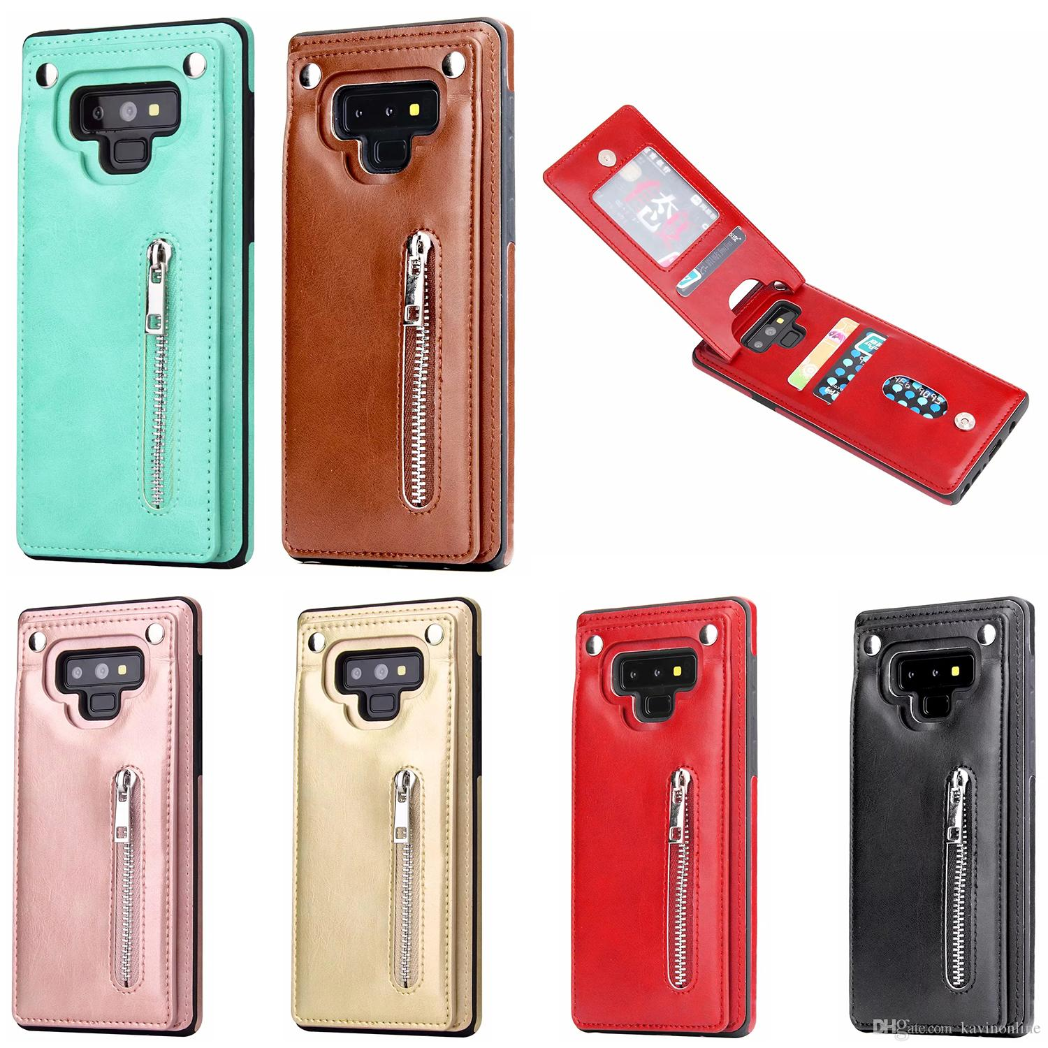 3 Cards Zipper Back Cover Phone Case For Samsung Galaxy Note 9 8 S8 S9 Plus And Iphone 8 Plus Etc Reiko Cell Phone Case Western Cell Phone Cases From