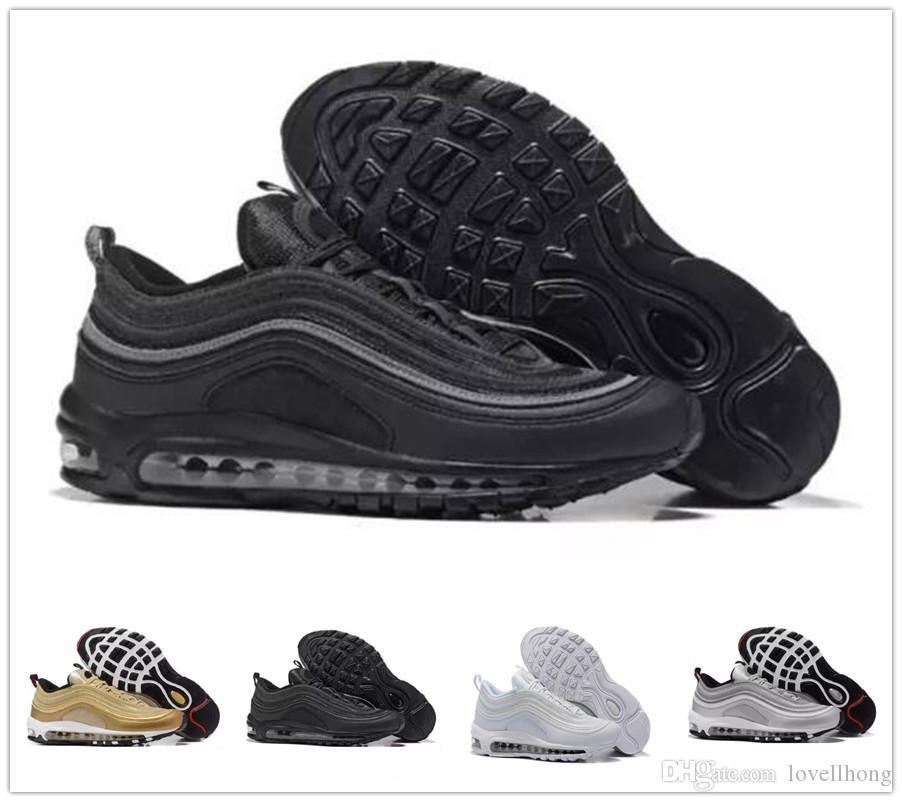 newest b4d46 209ff Acheter Nike Air Max 97 Airmax 97 Nouveaux Hommes Chaussures De Course  Coussin 97 KPU En Plastique Pas Cher Formation Chaussures De Mode En Gros  Femmes ...