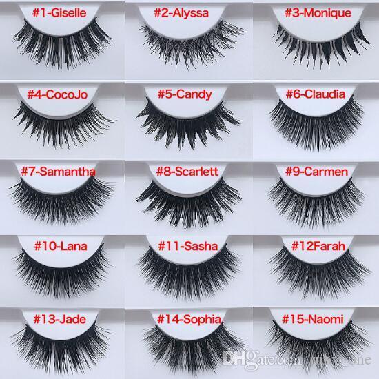 20 Styles Beauty False Eyelashes Handmade Fake Lashes Voluminous Fake  Eyelashes For Eye Lashes False Lashes CCA8504 240pcs