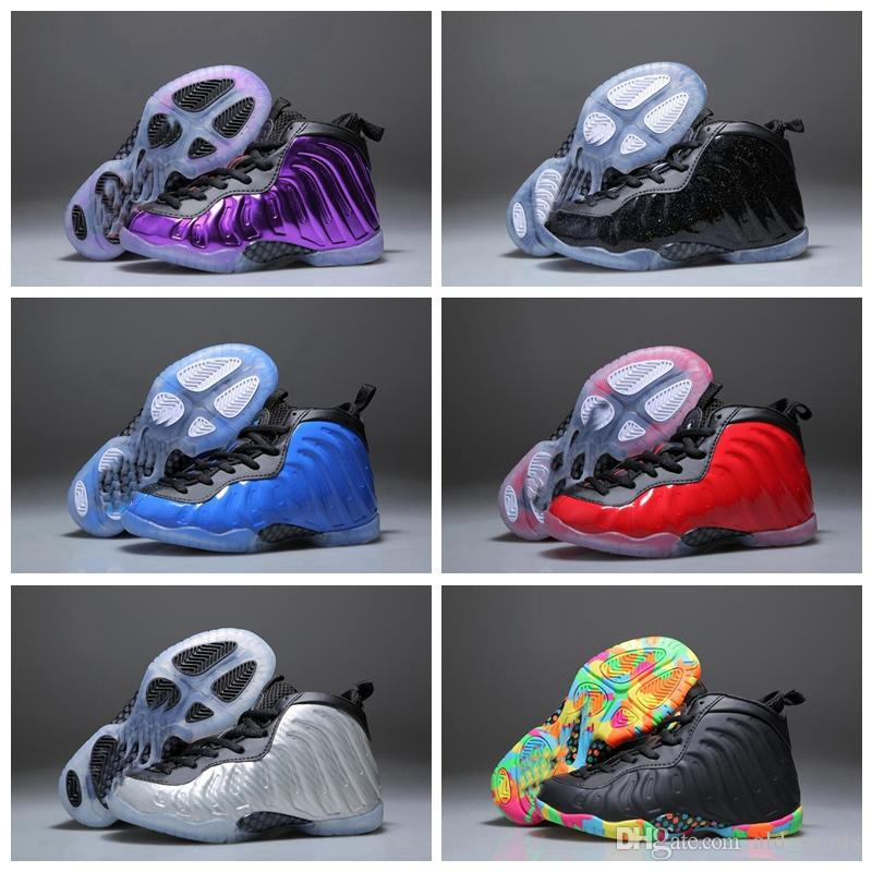 detailed look c9994 4b319 2018 Kids Basketball Shoes One Penny Hardaway Children Tennis FOAM Eggplant  Basketball Sport Shoes Outdoor Athletic Sneaker Shoe Eur 28 35 Boys  Basketball ...